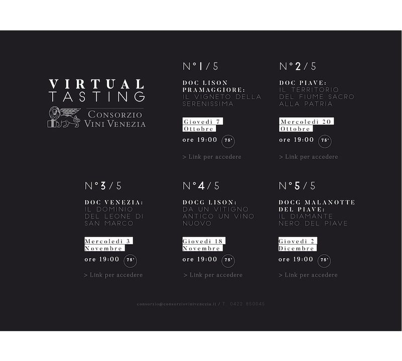 Virtual Tasting Consorzio Vini Venezia 2021
