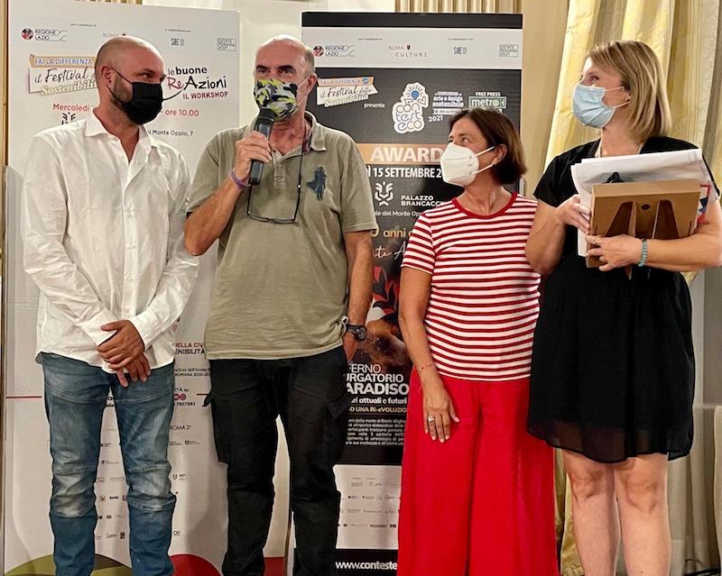"""Gran finale per il """"Festival della Sostenibilità"""": a Mauro Pispoli e Donatella Fabbri i riconoscimenti di Contesteco Metro Awards 2021, alla startup Greenaetwork il premio Rinnovabili.it"""