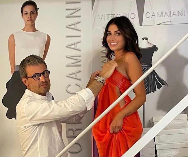 L'attrice Giorgia Fiori alla 78esima Mostra del Cinema di Venezia indossa diversi outfit dello stilista Vittorio Camaiani
