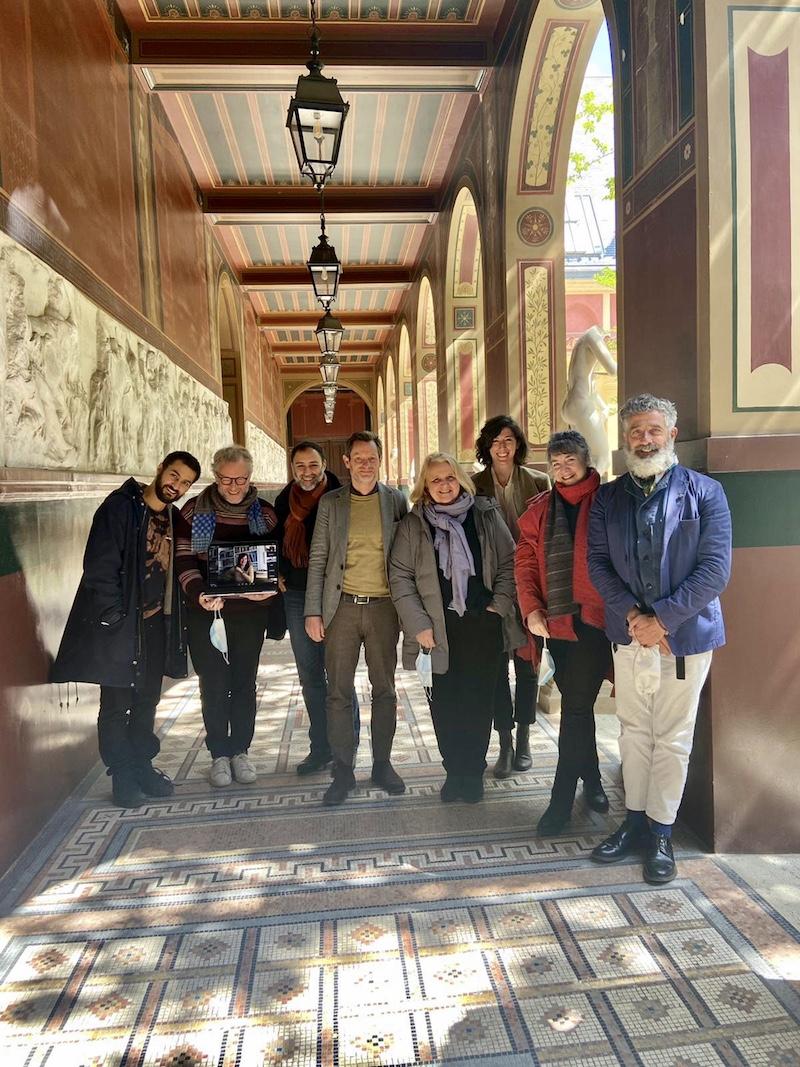 Arrivo a Villa Medici dei borsisti 2021-2022 dell'Accademia di Francia a Roma