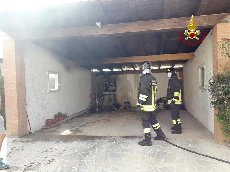 Vigili del Fuoco – Arre (PD), Incendio dell'inverter di un impianto fotovoltaico
